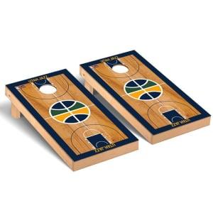 Utah Jazz 2' x 4' Court Museum Cornhole Board Tailgate Toss Set