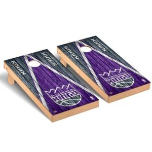 Sacramento Kings 2' x 4' Weathered Museum Cornhole Board Tailgate Toss Set