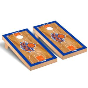 New York Knicks 2' x 4' Court Museum Cornhole Board Tailgate Toss Set