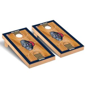 New Orleans Pelicans 2' x 4' Court Museum Cornhole Board Tailgate Toss Set