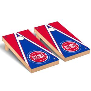 Detroit Pistons 2' x 4' Triangle Museum Cornhole Board Tailgate Toss Set