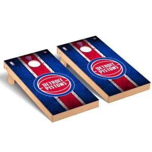 Detroit Pistons 2' x 4' Vintage Museum Cornhole Board Tailgate Toss Set