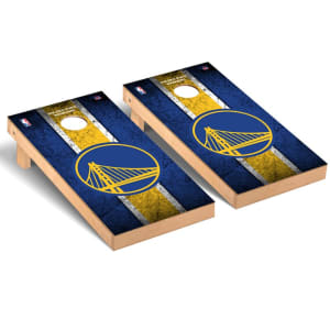 Golden State Warriors 2' x 4' Vintage Museum Cornhole Board Tailgate Toss Set