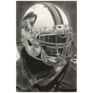 "Buffalo Bills Deacon Jones Foundation 30"" x 20"" Helmet Series Fine Art Canvas"