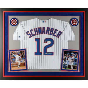 Kyle Schwarber Chicago Cubs Fanatics Authentic Deluxe Framed Autographed White Replica Jersey