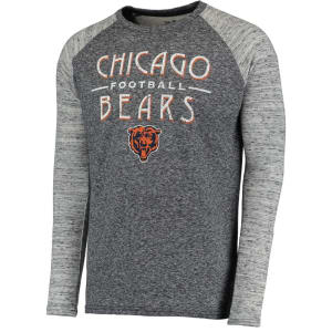 Chicago Bears Majestic Threads Conquest Double Face Thermal Long Sleeve T-Shirt - Navy