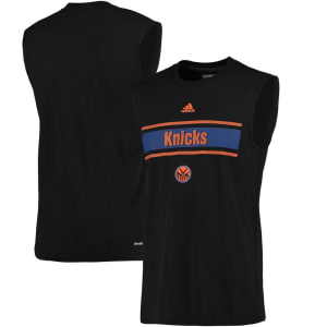 New York Knicks adidas Earn Your Stripes Ultimate Tank Top - Black