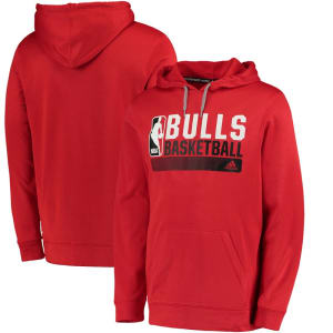 Chicago Bulls adidas Icon Status Ultimate climawarm Hoodie - Red
