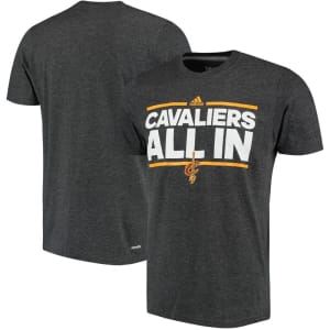 Cleveland Cavaliers adidas Neue Phrase climalite T-Shirt - Charcoal