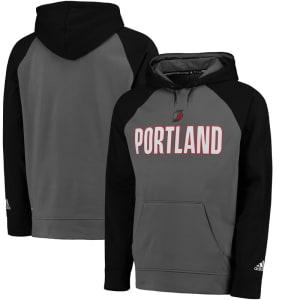 Portland Trail Blazers adidas 2016 Tip-Off Pullover Hoodie - Gray/Black