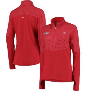 New Orleans Pelicans adidas Women's Team Logo Lightweight Performance Half-Zip Jacket - Red
