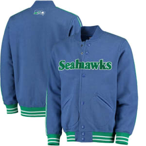 Seattle Seahawks Mitchell & Ness Play Call Fleece Full-Zip Jacket - Royal
