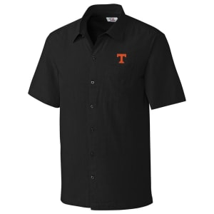 Tennessee Volunteers Cutter & Buck Solana Check Button-Up Shirt - Black
