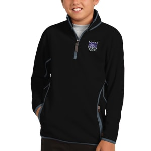 Sacramento Kings Antigua Youth New Logo Ice Quarter-Zip Jacket - Black