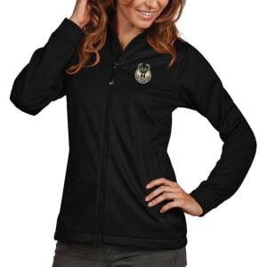Milwaukee Bucks Antigua Women's Golf Full-Zip Jacket - Black