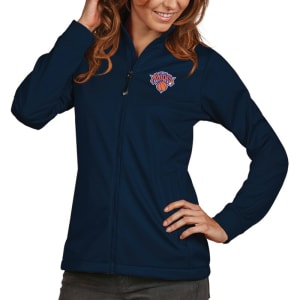 New York Knicks Antigua Women's Golf Full-Zip Jacket - Navy
