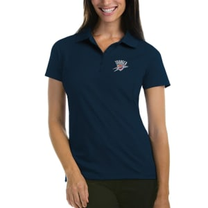 Oklahoma City Thunder Antigua Women's Pique Xtra-Lite Polo - Navy