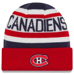 Montreal Canadiens New Era Biggest Fan Redux Cuffed Knit Hat - Red