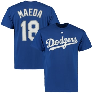 Kenta Maeda Los Angeles Dodgers Majestic Official Name & Number T-Shirt - Royal