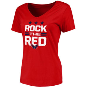 Washington Capitals Fanatics Branded Women's Hometown Collection Rock the Red T-Shirt - Red