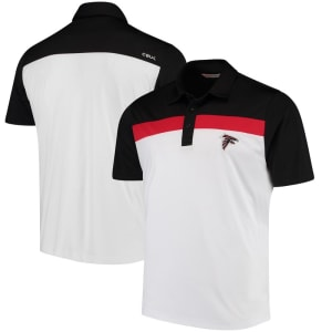 Atlanta Falcons CBUK by Cutter & Buck Primary Logo Chambers Polo - White/Black