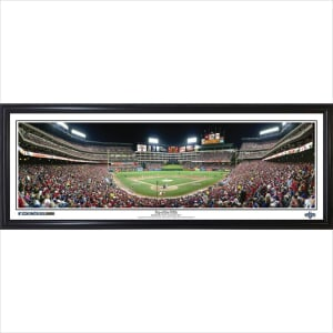 "Texas Rangers 39"" x 13.5"" Top of the Fifth Standard Black Framed Panoramic"