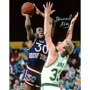 Bernard King New York Knicks Steiner Sports Autographed 8'' x 10'' Over Bird Photograph