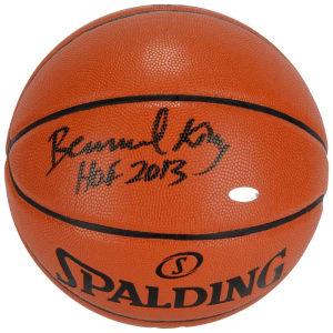 "Bernard King New York Knicks Autographed Spalding Indoor/Outdoor Basketball with ""HOF 2013"" Inscription"