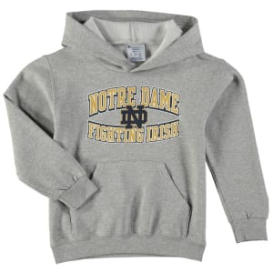 Notre Dame Fighting Irish Champion Youth Powerblend Pullover Hoodie - Gray