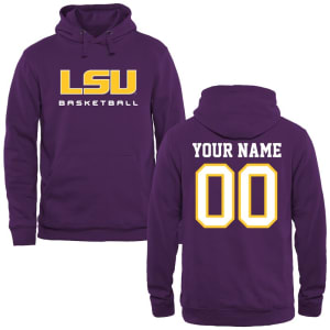LSU Tigers Personalized Basketball Pullover Hoodie - Purple