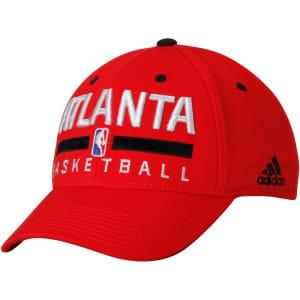 Atlanta Hawks adidas Practice Flex Hat - Red