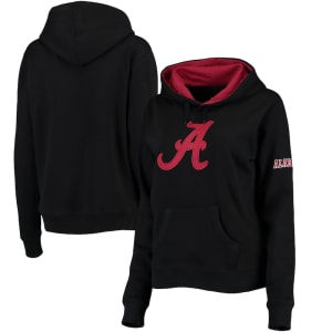 Alabama Crimson Tide Women's Big Logo Pullover Sweatshirt - Black