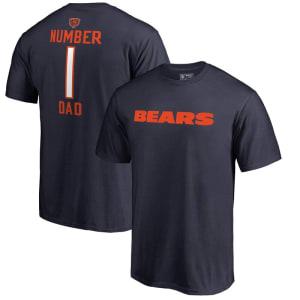 Chicago Bears NFL Pro Line Number 1 Dad T-Shirt - Navy