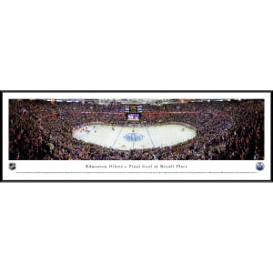 "Edmonton Oilers 40.25"" x 13.75"" Final Goal at Rexall Place Standard Frame Panoramic Photo"