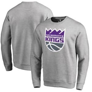 Sacramento Kings Fanatics Branded Primary Logo Sweatshirt - Heathered Gray