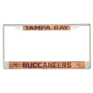 Tampa Bay Buccaneers Wood Design Acrylic License Plate Frame