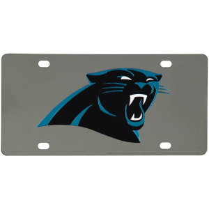 Carolina Panthers Stainless Steel License Plate