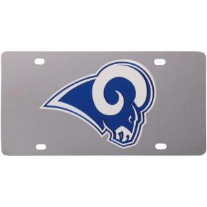 Los Angeles Rams Stainless Steel License Plate