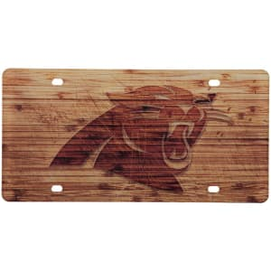 Carolina Panthers Wood Design Acrylic License Plate
