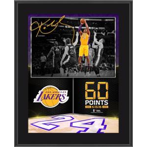 "Kobe Bryant Los Angeles Lakers Fanatics Authentic 10.5"" x 13"" 60 Point Finale Sublimated Plaque"
