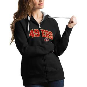 San Francisco 49ers Antigua Women's Victory Full-Zip Hoodie - Black