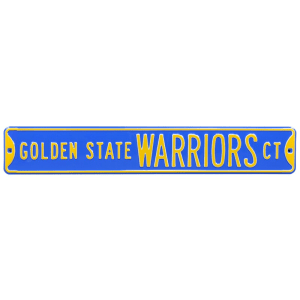 "Golden State Warriors 6"" x 36"" Steel Street Sign"