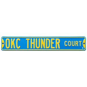"Oklahoma City Thunder 6"" x 36"" Steel Street Sign"