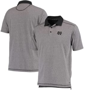 Notre Dame Fighting Irish Colosseum Meridian Polo - Heathered Gray