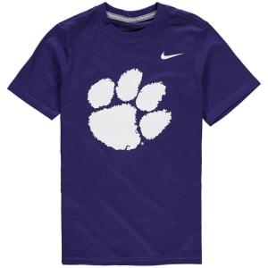 Clemson Tigers Nike Youth Cotton Logo T-Shirt - Purple
