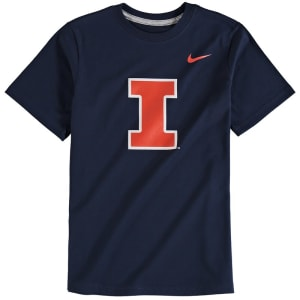 Illinois Fighting Illini Nike Youth Cotton Logo T-Shirt - Navy