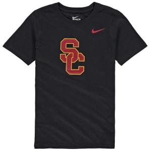 USC Trojans Nike Youth Cotton Logo T-Shirt - Black