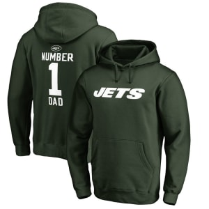 New York Jets NFL Pro Line Number 1 Dad Pullover Hoodie - Green