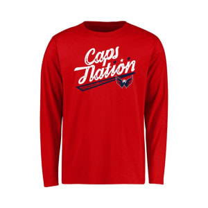 Washington Capitals Youth Hometown Collection Caps Nation Long Sleeve T-Shirt - Red