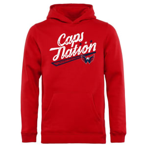 Washington Capitals Youth Hometown Collection Caps Nation Pullover Hoodie - Red